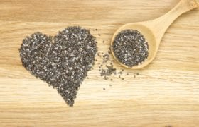 large - chia seeds heart