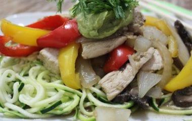 stir fry on Zucchini noodles