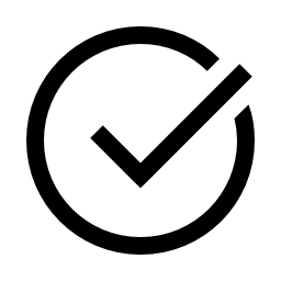checkmark circle black icon transparent