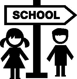 kids school icon transparent black