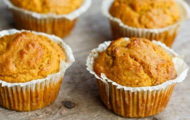 GF, Healthy - Pumpkin Banana Bread Muffins! Nutraphoria