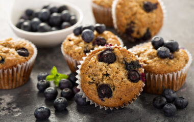 Healthy Blueberry Oatmeal Muffins Nutraphoria
